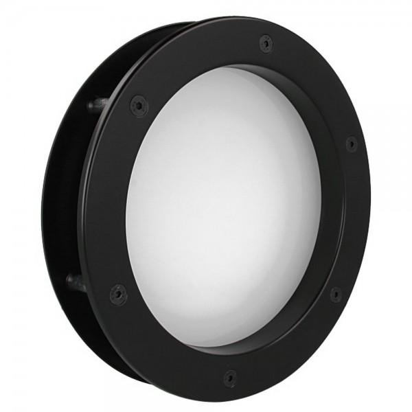 MLS Bullauge B4000 A8 Rundfenster Aluminium schwarz matt Ø 35 cm Glas matt 0180-0162-A8