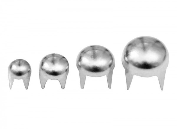 1000 Stück Rundnieten Silber Ziernieten Killer rund Nieten