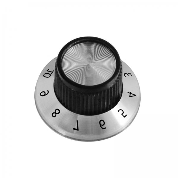 Potentiometer Drehknopf Reglerknopf Potiknopf ALU Schwarz Aluminium 6mm Achse