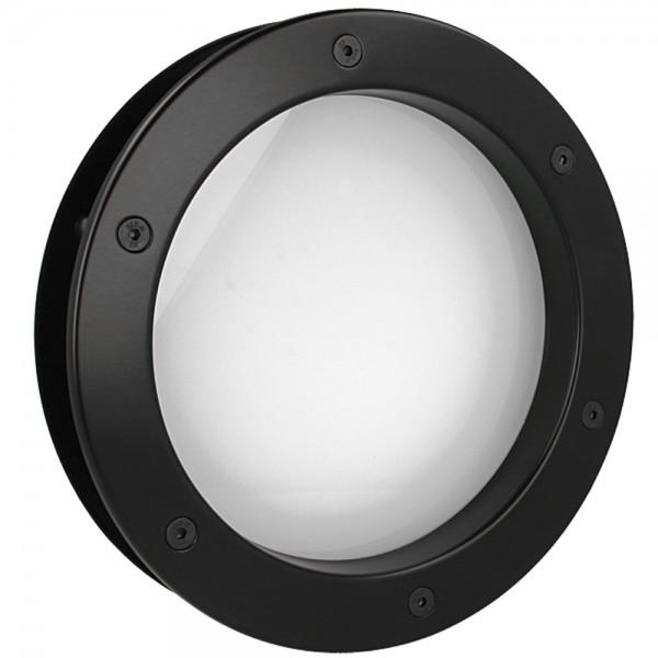 MLS Bullauge B4000 A8 Rundfenster Aluminium schwarz matt Ø 25 cm Glas matt 0180-0160-A8