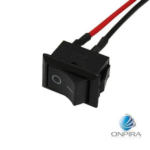 5x KFZ Wippschalter Schwarz Einbau Schalter Kabel PKW Motorrad LKW Schalter