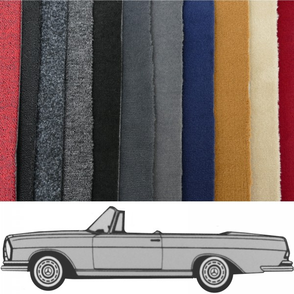 Autoteppich komplett Mercedes W111 Cabrio Hochkühler verschiedene Farben Neu
