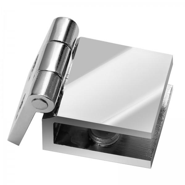 Chrom Glastür Scharnier 6mm 8mm Türbeschlag Türband Vitrine Holz- Glasvitrine