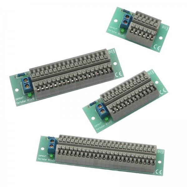 ONPIRA Stromverteiler Gleich- und Wechselstrom Verteiler 8A belastbar Modellbau 6-24