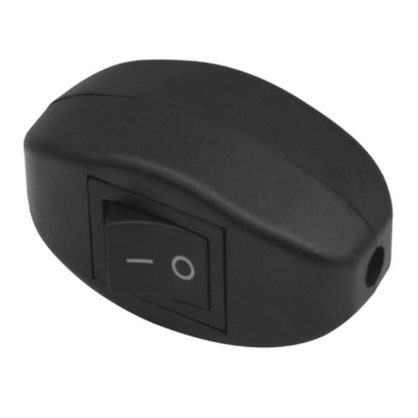Schnurschalter Kabelschalter Zwischenschalter Wippschalter Schalter Schwarz