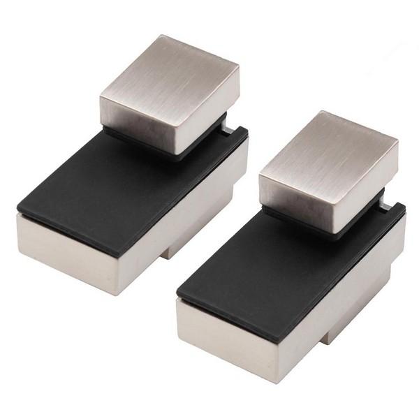2x DESIGN Edelstahl-Optik Regalträger Regalhalter bis 25 kg Regal Alu Aluminium