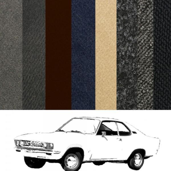 Opel Manta A Teppich komplett + Hutablage + Kofferraummatte Farbauswahl
