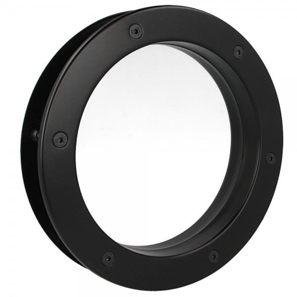 MLS Bullauge B4000 A8 Rundfenster Aluminium schwarz matt Ø 25 cm Glas klar 0180-0140-A8