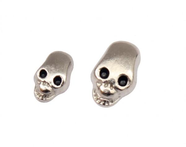 50 Stück Metall Totenkopf Nieten Ledernieten Ziernieten Skull Punk Killernieten