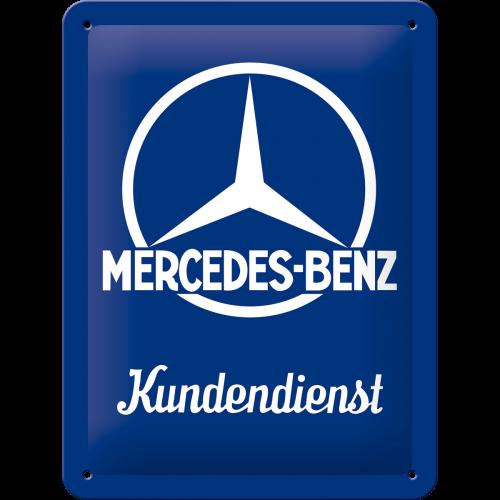 Blechschild 15x20cm Mercedes-Benz Kundendienst