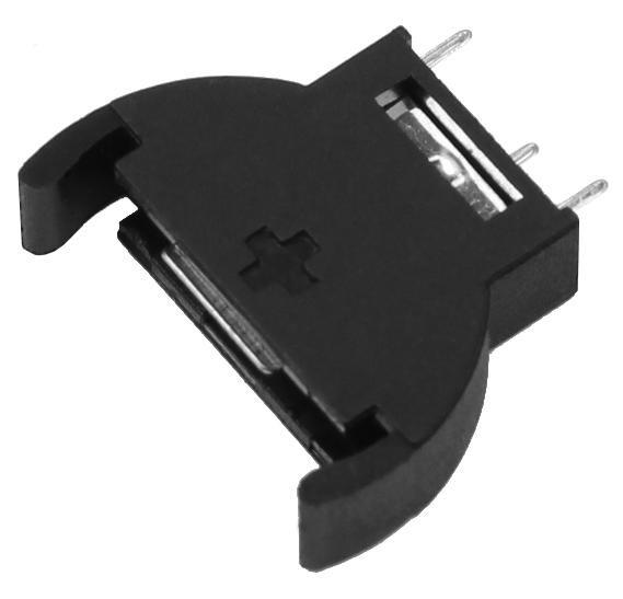7x Batteriehalter Halter stehend für Knopfzelle CR2016 CR2025 CR2032