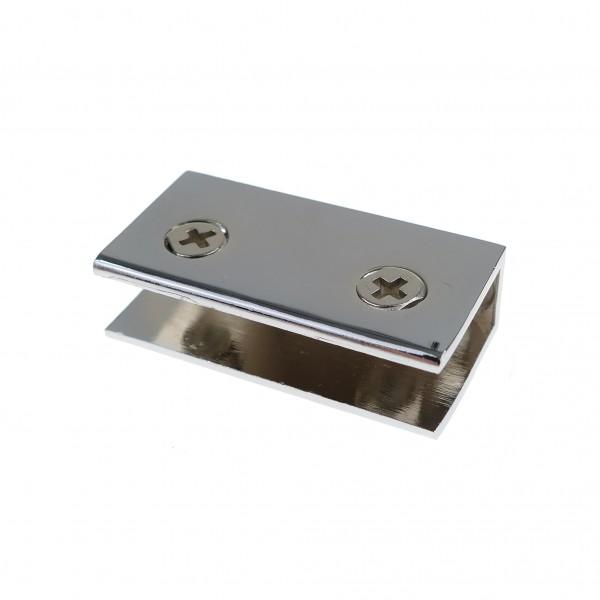 Chrom Glasplattenträger Glasbodenhalter Regalhalter 54x27mm FLACH 8mm10mm