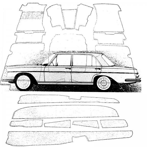 Mercedes Teppich W109 W108 SEL Velours beige Keder Kunstleder beige (H)
