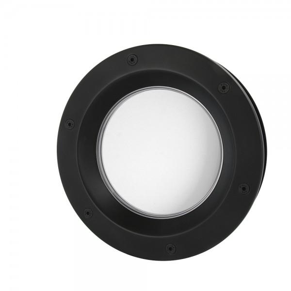 MLS Bullauge B6000 A8 Rundfenster Aluminium schwarz matt Ø 40 cm Glas matt 0180-0213-A8