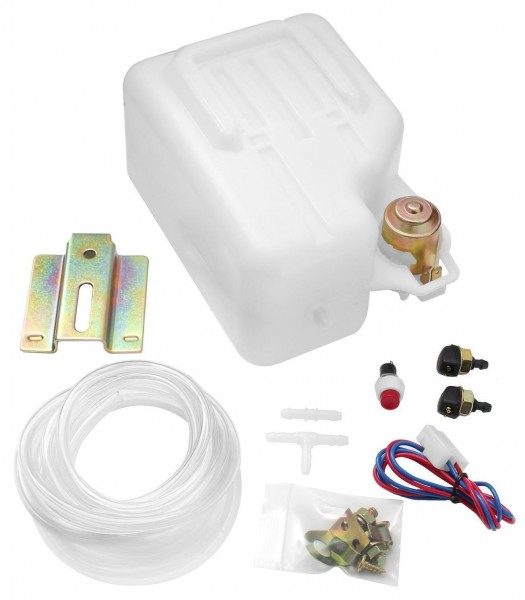Scheiben Waschanlage Scheibenwaschbehälter Wasser Tank Pumpe Set 1,5L