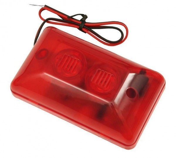 Alarmsirene Alarm Sirene Alarmanlage LED Blitzlicht Alarm Signalgeber 12V 108dB