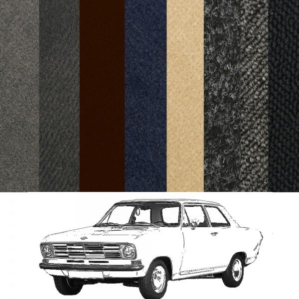 Opel Kadett B Limousine 2-Türer Teppich verschiedene Farben Schlinge Velours