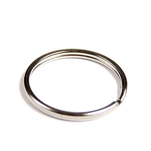 200 Schlüsselringe Außen Ø25mm / Innen Ø22mm Gehärteter Stahl Schlüsselring