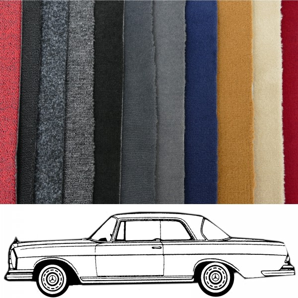 Autoteppich komplett Mercedes W111 Coupe Flachkühler verschiedene Farben