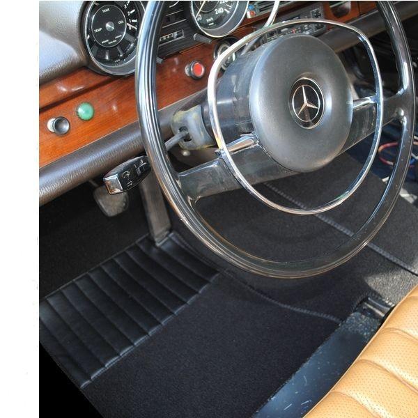 mercedes w109 auto teppich komplettes set schlinge schwarz. Black Bedroom Furniture Sets. Home Design Ideas