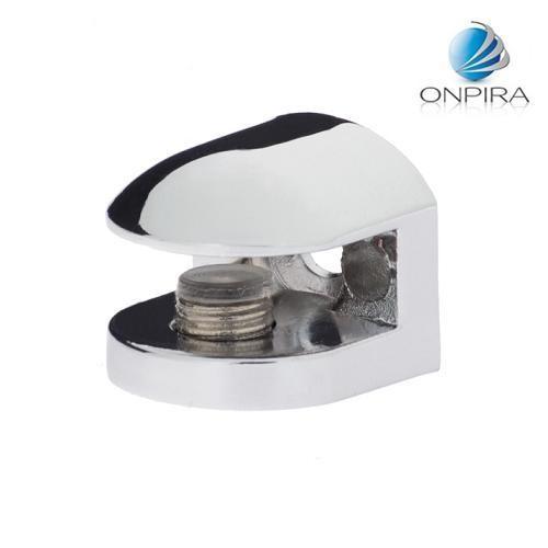 4x Chrom Glasplattenträger Glasbodenhalter Regalhalter 19x19mm FLACH 4mm 6mm