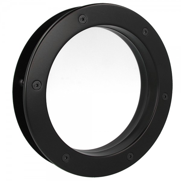 MLS Bullauge B4000 A8 Rundfenster Aluminium schwarz matt Ø 30 cm Glas klar 0180-0141-A8