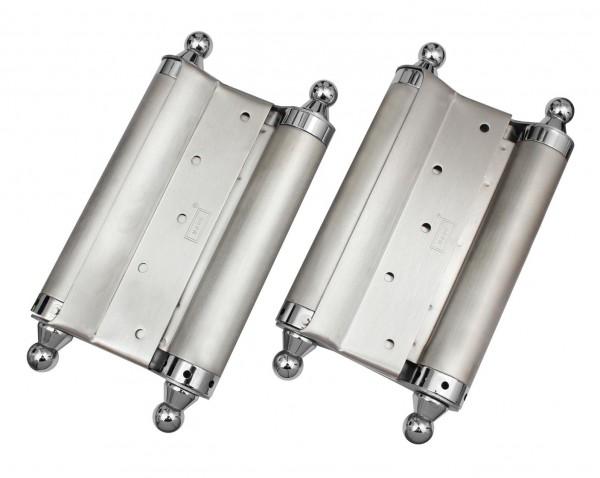 2x EDELSTAHL 200mm bis 120kg Türen Pendeltürband Pendeltürscharnier Schwingtür