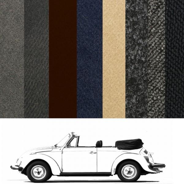 Autoteppich komplett VW Käfer 1302 Cabrio verschiedene Farben Neu