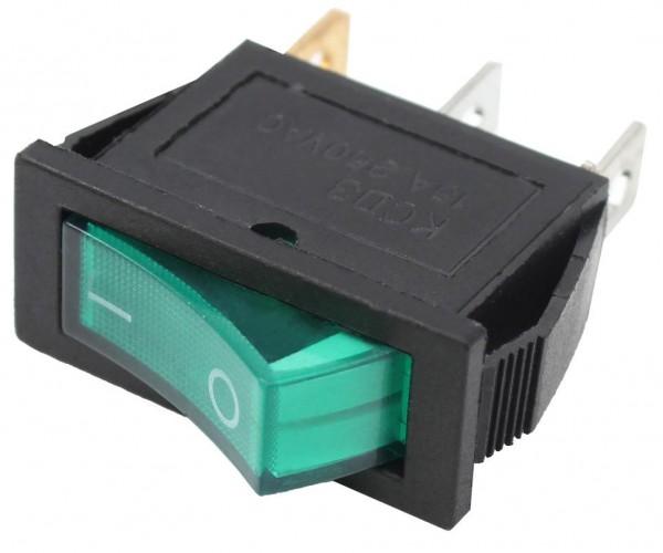 5x Wippschalter Schalter Grün 1x EIN mit Beleuchtung 11x30mm 250V 15A