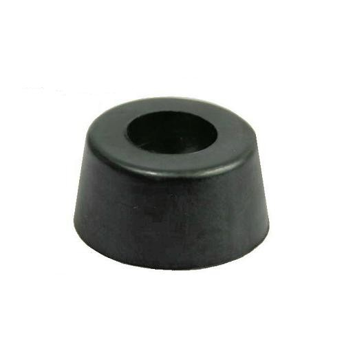 40x Gummifüße 26x13mm Gummifuß Edelstahleinlage Boxenfüße Gerätefüße Türstopper