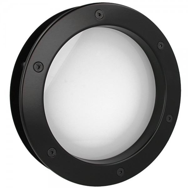 MLS Bullauge B4000 A8 Rundfenster Aluminium schwarz matt Ø 30 cm Glas matt 0180-0161-A8