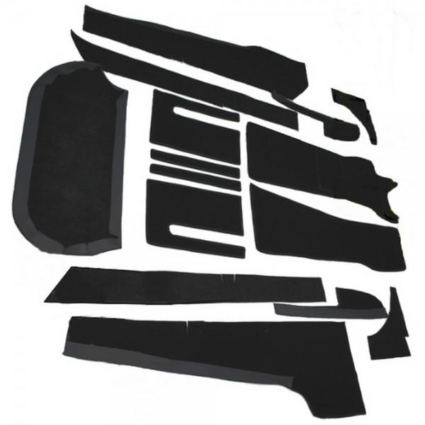 Opel GT Auto Teppich komplettes Set Schlinge schwarz Keder Stoff schwarz NEU