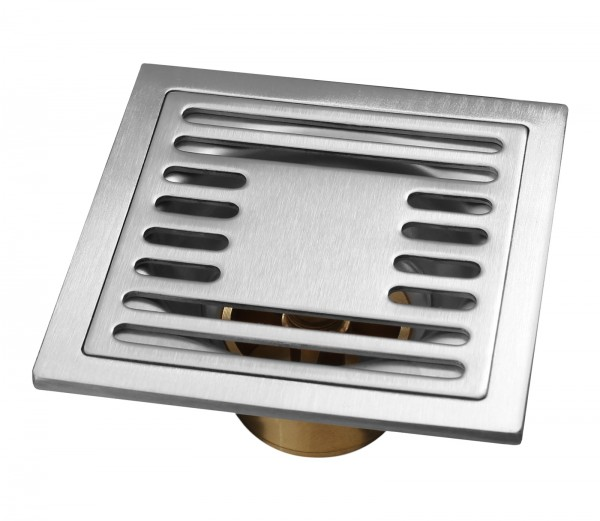 Edelstahl 10x10cm Duschablauf massive Qualität Bodenablauf Geruchsverschluß