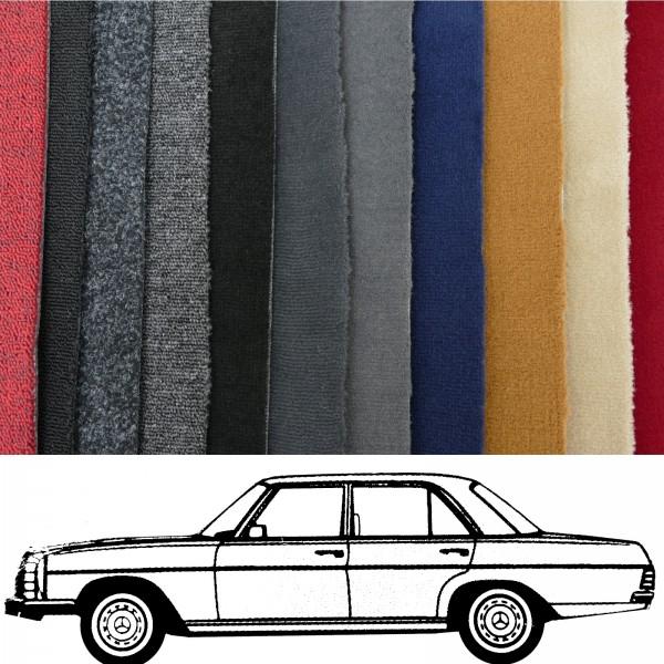 Autoteppich komplett Mercedes W114 W115 Limousine /8 verschiedene Farben Neu
