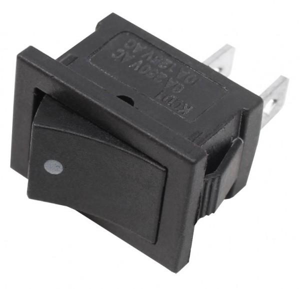 10x Mini Drucktaster Wipptaster 13x20mm Taster 1xEIN Schwarz KFZ Wippentaster