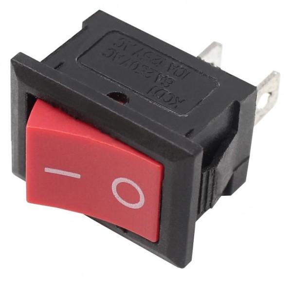20x Mini Wippschalter 1xEIN 13x20mm Rot Wippenschalter EIN/AUS Schalter