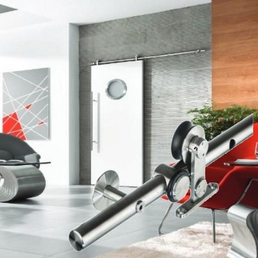Schiebetürbeschlag + Laufschienen für Holztüren von MLS Modell WDU-KAT