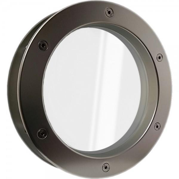 MLS Bullauge B4000 A6 Aluminium in Edelstahloptik für Wandstärke 40 +/- 2 mm